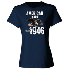 American Made since 1946 - Ladies' 4.5 oz., 100% Ringspun Cotton nano-T® T-Shirt