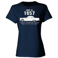 Made in 1957 - All Original Parts - Ladies' 4.5 oz., 100% Ringspun Cotton nano-T® T-Shirt