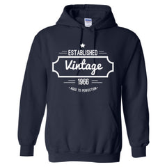 1966 Vintage Aged to Perfection TShirt - Adult Hoodie