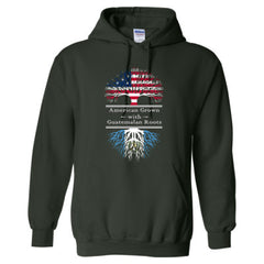 AMERICAN GROWN WITH GUATEMALAN ROOTS GREAT HOODIE GUATEMALA - Adult Hoodie