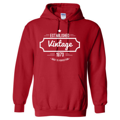 1973 VINTAGE AGED TO PERFECTION HOODIE - Adult Hoodie