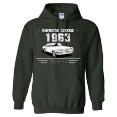 1963 American Classic - Built To Last - Adult Hoodie