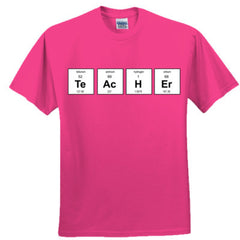 TEACHER PERIODIC TABLE T SHIRT - Adult Tshirt