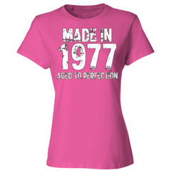 Made in 1977 - Aged To Perfection - Ladies' Cotton T-Shirt