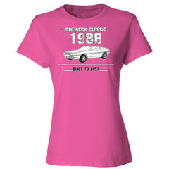 1986 American Classic - Built To Last - Ladies' Cotton T-Shirt