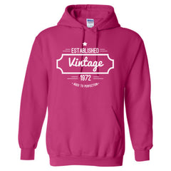 1972 VINTAGE AGED TO PERFECTION TSHIRT - Adult Hoodie