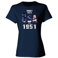 Proudly Made in USA since 1951 - Ladies' 4.5 oz., 100% Ringspun Cotton nano-T® T-Shirt