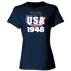 Proudly Made in USA since 1948 - Ladies' 4.5 oz., 100% Ringspun Cotton nano-T® T-Shirt