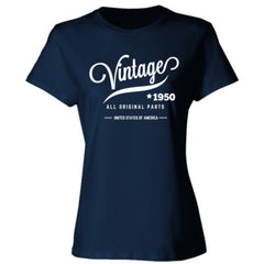 1950 VINTAGE TSHIRT - Ladies' Cotton T-Shirt