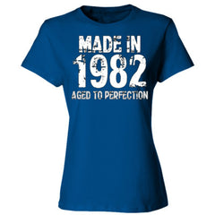 Made in 1982 - Aged To Perfection - Ladies' Cotton T-Shirt