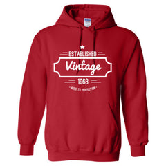 1968 VINTAGE AGED TO PERFECTION TSHIRT - Adult Hoodie