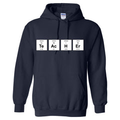 TEACHER PERIODIC TABLE T SHIRT - Adult Hoodie