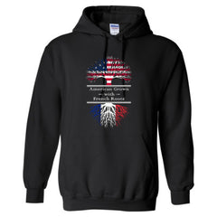 AMERICAN GROWN WITH FRENCH ROOTS GREAT HOODIE FRANCE - Adult Hoodie