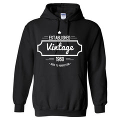 1960 Vintage Aged to Perfection T Shirt - Adult Hoodie - Adult Hoodie
