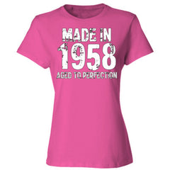 Made in 1958 - Aged To Perfection - Ladies' 4.5 oz., 100% Ringspun Cotton nano-T® T-Shirt