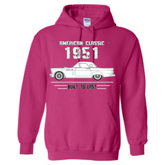 1951 American Classic - Built To Last - Adult Hoodie