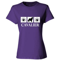 CAVALIER KING CHARLES SPANIEL T SHIRT - Ladies' 4.5 oz., 100% Ringspun Cotton nano-T® T-Shirt