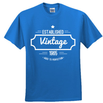 1965 VINTAGE AGED TO PERFECTION T SHIRT - Adult Tshirt