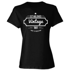 1961 VINTAGE AGED TO PERFECTION T SHIRT - Ladies' Cotton T-Shirt