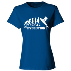 Evolution of a Surfer - Ladies' Cotton T-Shirt
