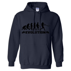 Evolution of a Baseball Player - Adult Hoodie