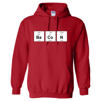 BACON PERIODIC TABLE HOODIE - Adult Hoodie