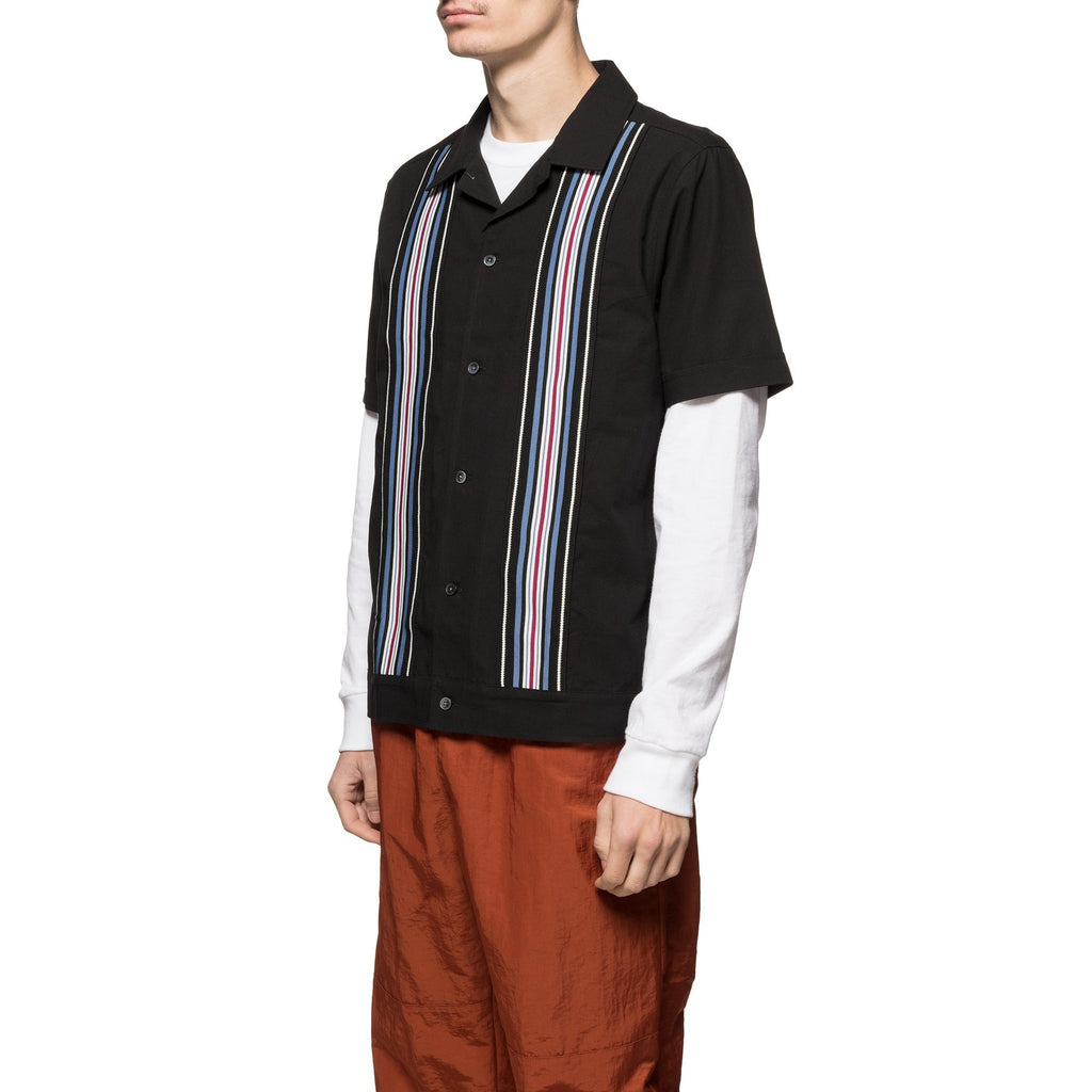 Striped Knit Panel Shirt