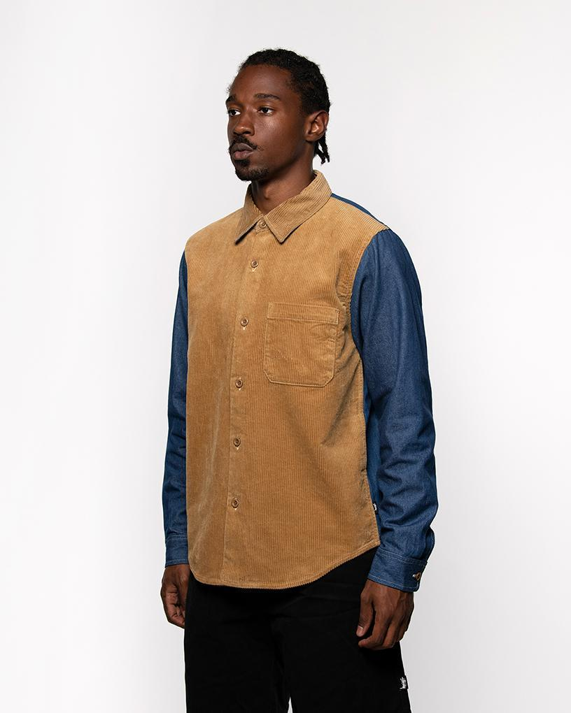 Cord Denim Mix Shirt