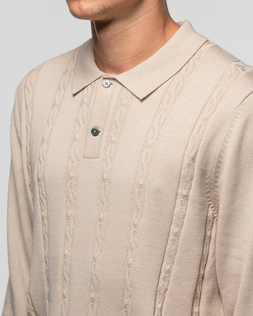 S Chain LS Knit Polo