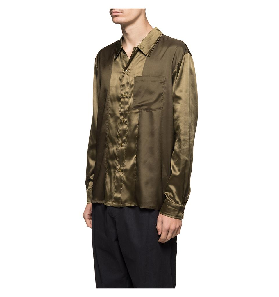 Contrast Satin Shirt