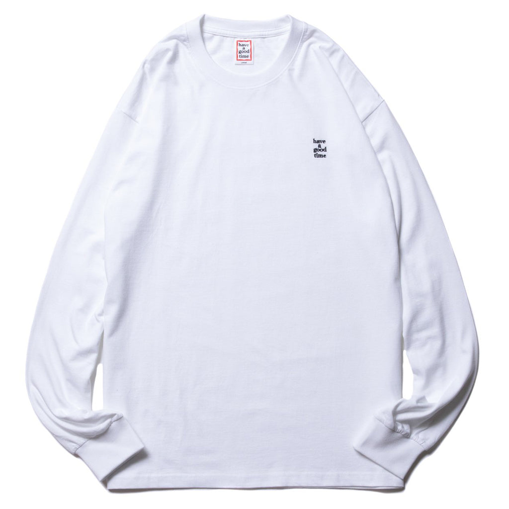 Mini Embroidered Logo LS Tee