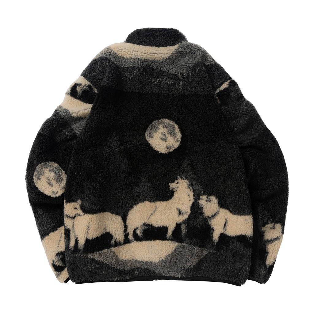 Wolves High Pile Fleece