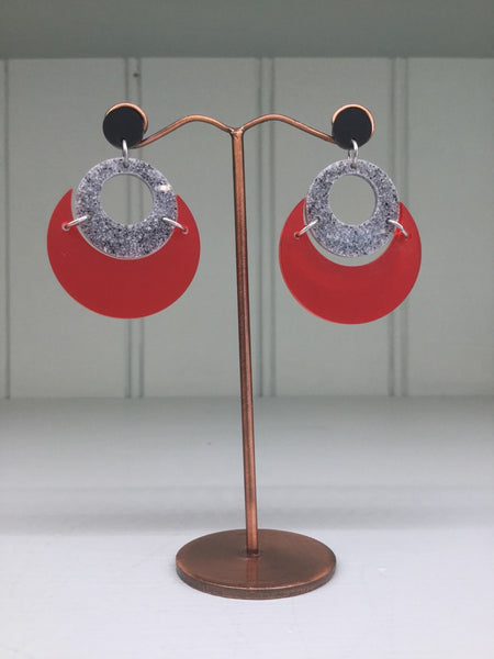 Toolally By Moonlight Earrings - Red
