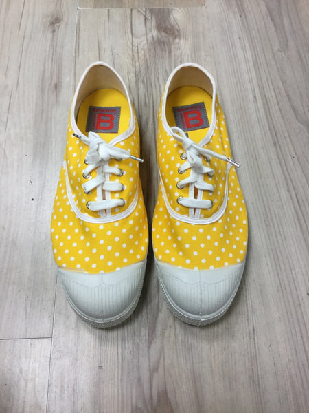 Bensimon Plimsoll Pumps Yellow Polka Dot