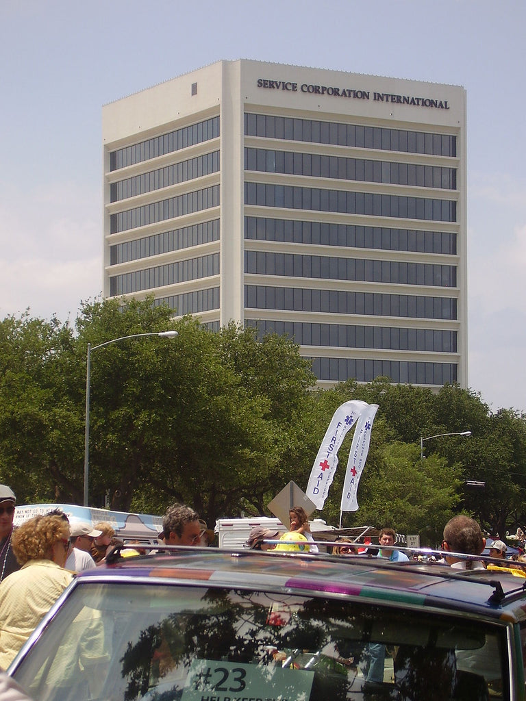 Service Corporation International, the white building seen in the photo above