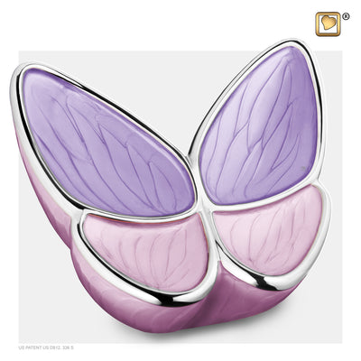 A1040  Wings of Hope™ Adult Urn Pearl Lavender & Pol Silver