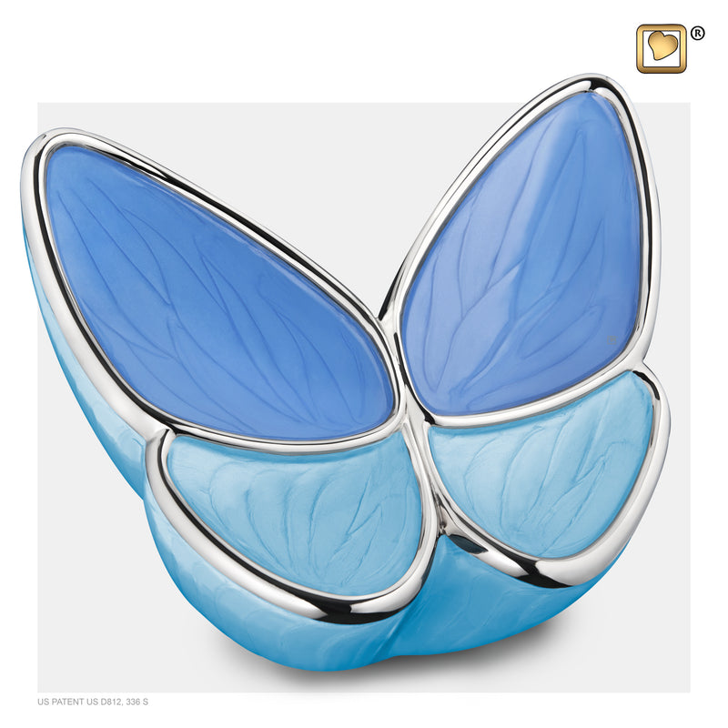 A1041 ADULT WINGS OF HOPE™ BLUE CREMATION URN