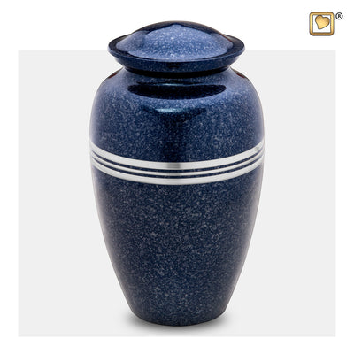 A212  Classic™ Adult Urn Speckled Indigo & Bru Pewter