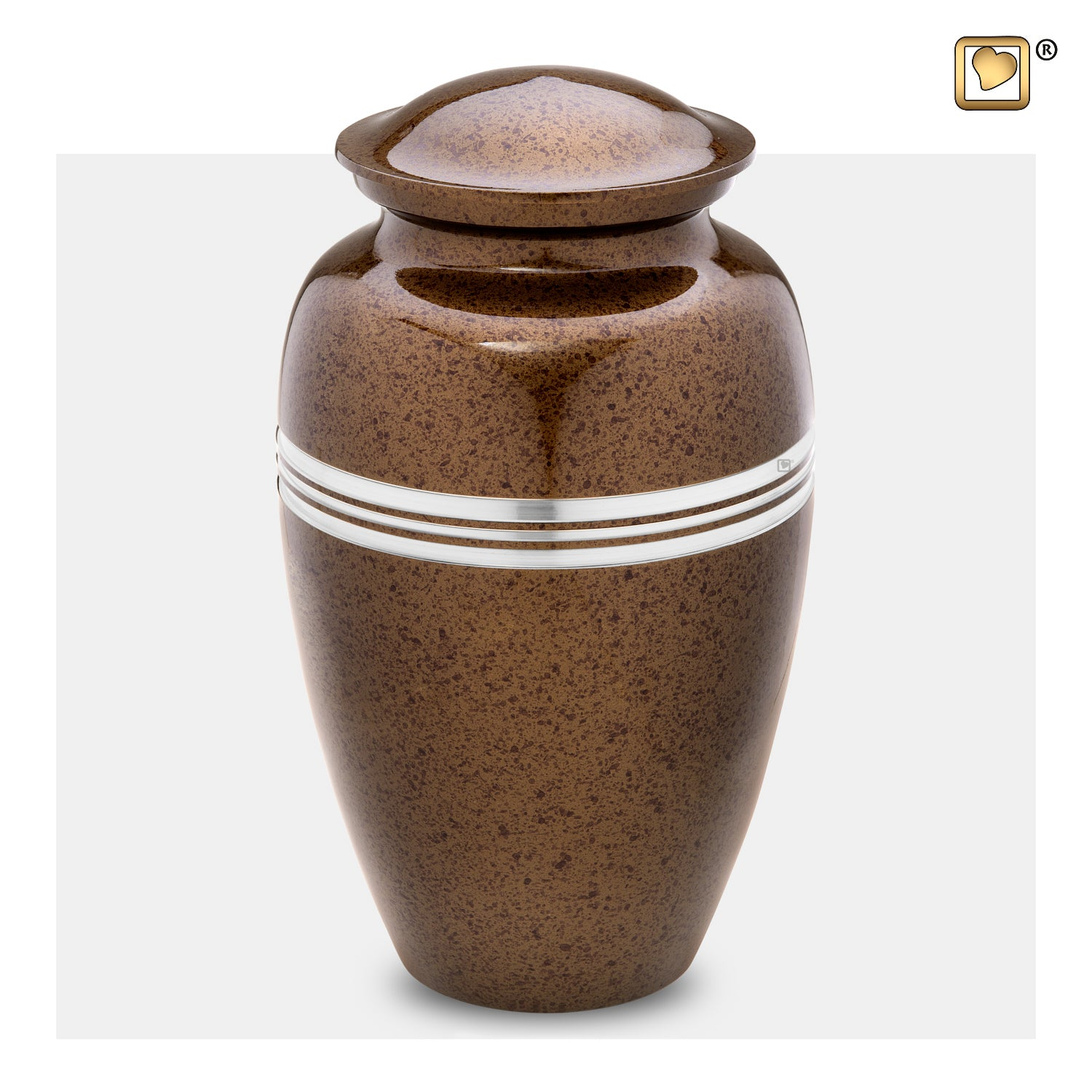 A214  Classic™ Adult Urn Speckled Auburn & Bru Pewter