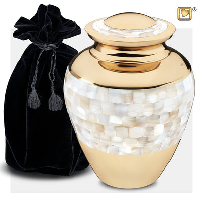 A230  Mother of Pearl™ Adult Urn Pol Gold