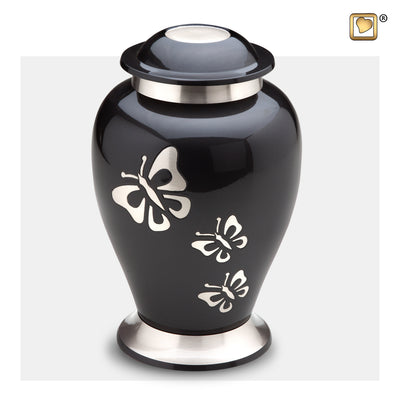 A240  Classic™ Butterfly Tribute Adult Urn Midnight & Bru Pewter