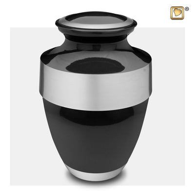 A261  Espana Adult Urn Midnight & Bru Pewter