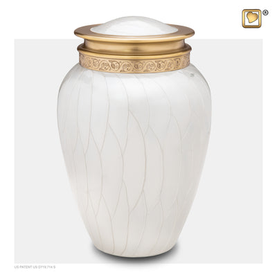 A290  Blessing™ Adult Urn Pearl White & Bru Gold