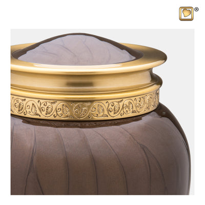 A291  Blessing™ Adult Urn Pearl Bronze & Bru Gold