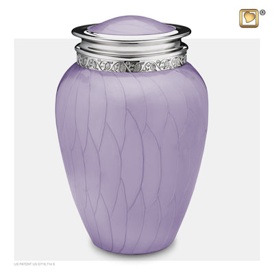 A298  Blessing™ Adult Urn Pearl Lavender & Pol Silver