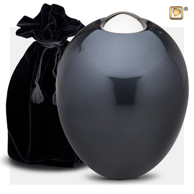 A510  Adore™ Adult Urn Midnight & Pol Silver