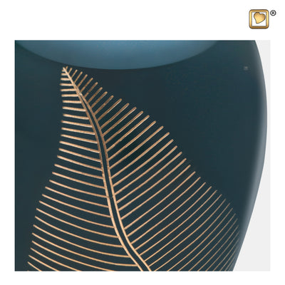 A540  Elegant Leaf™ Adult Urn Green & Bru Gold
