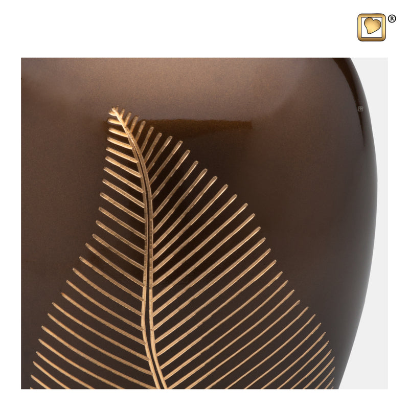 A541  Elegant Leaf™ Adult Urn Bronze & Bru Gold