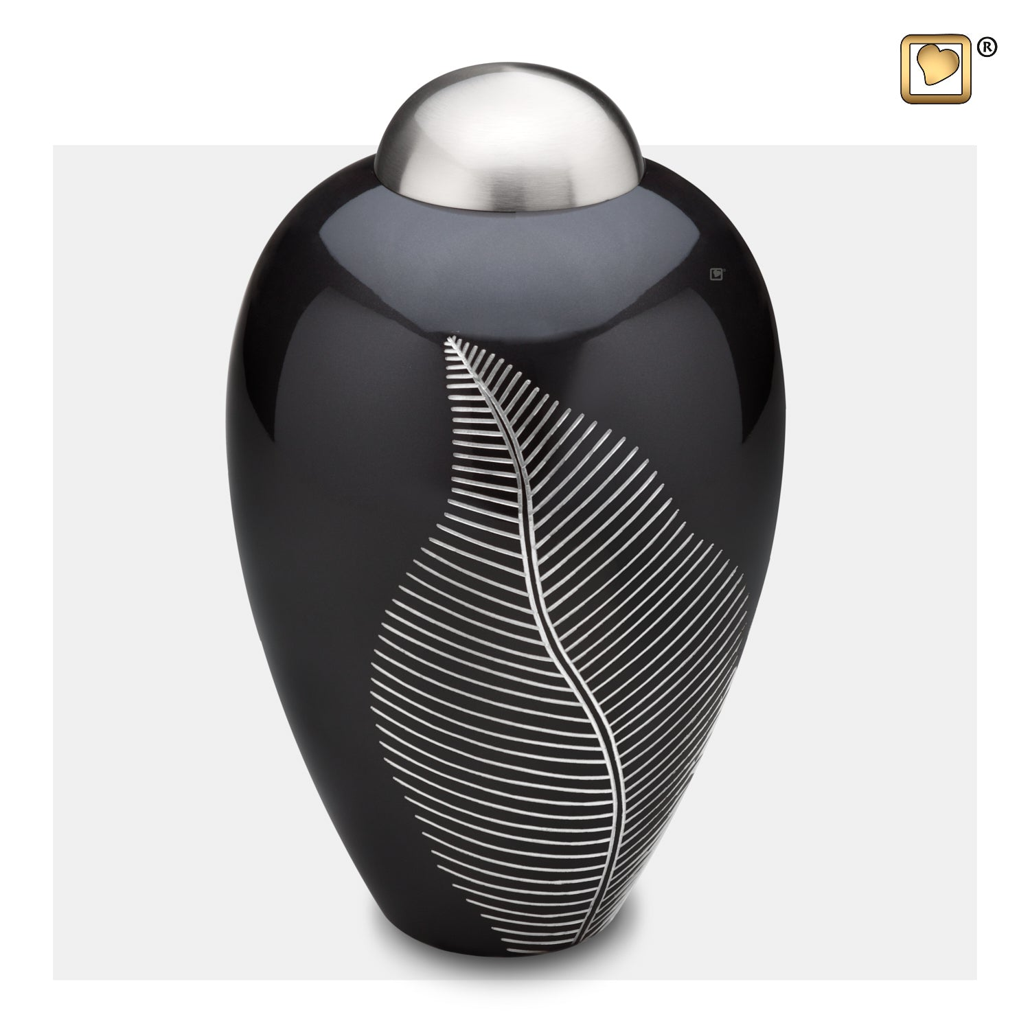 A542  Elegant Leaf™ Adult Urn Midnight & Bru Pewter