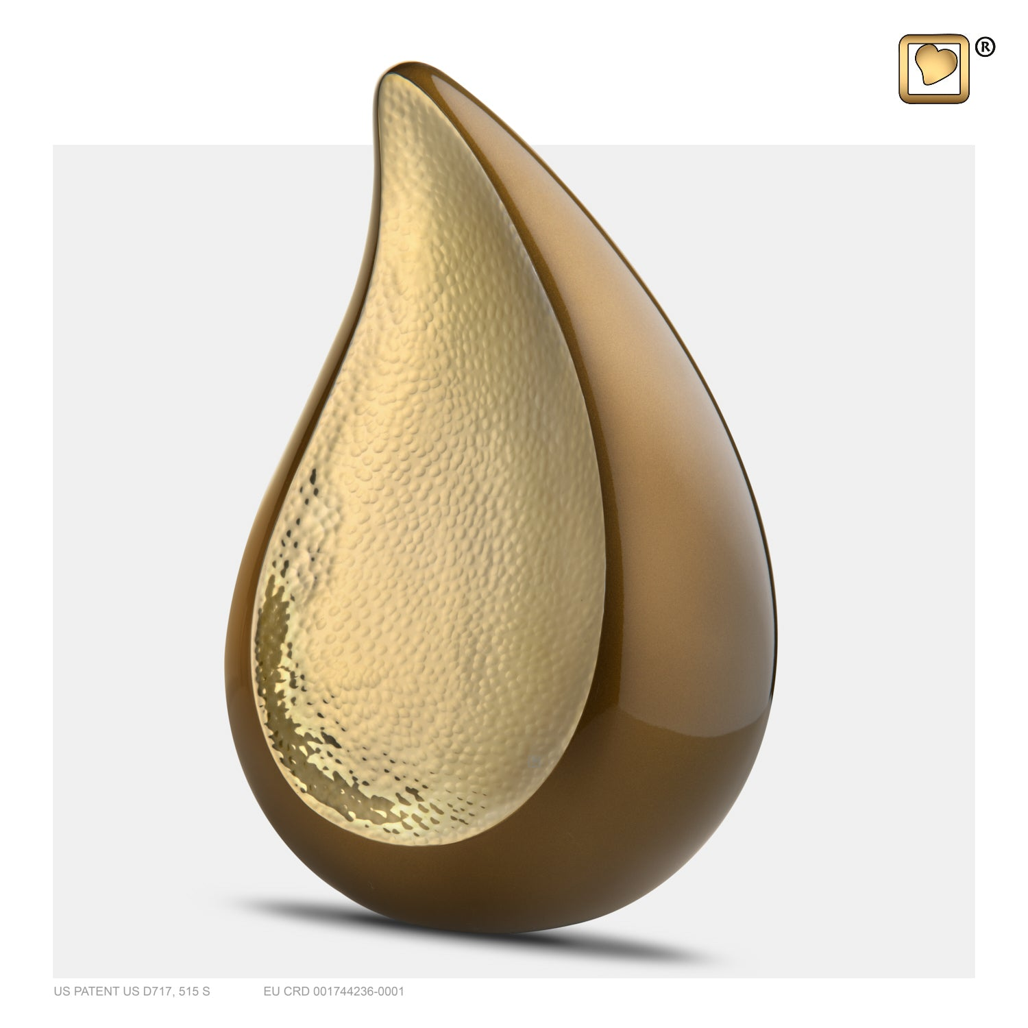 A581  TearDrop™ Adult Urn Bronze & Hmd Gold